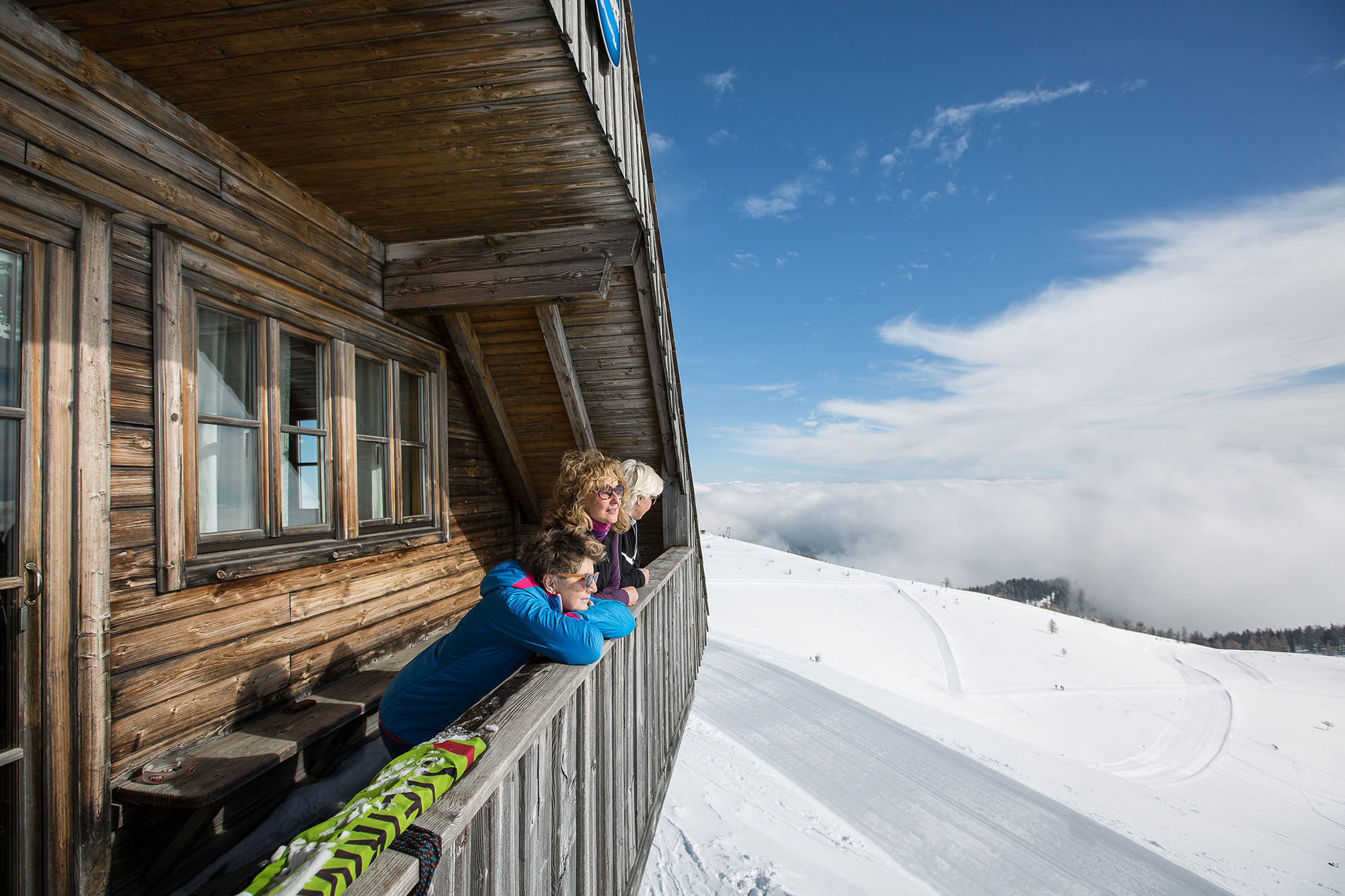 Aflenz Bürgeralm Skitour Schönleitenhaus